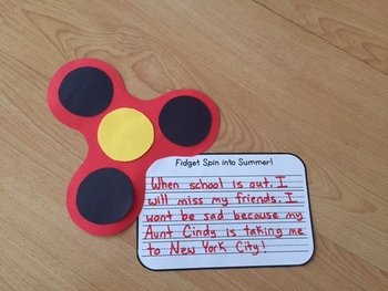 Fidget Spin into Summer and Back to School! A writing craftivity