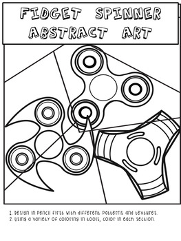 Fidget Spinner Abstract Art
