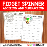 Fidget Spinner Activities - Addition and Subtraction