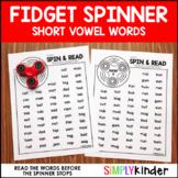 Fidget Spinner Activities - CVC Words