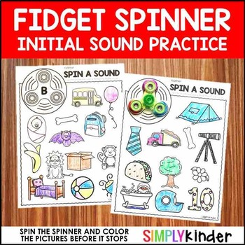 Fidget Spinner Activities - Consonants
