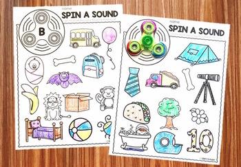 Fidget Spinner Activities - Consonants