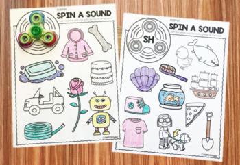 Fidget Spinner Activities - Digraphs & Long Vowels