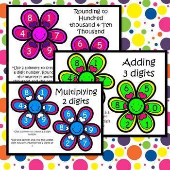 Fidget Spinner Math Activities Grades 3-6
