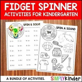 Fidget Spinner Activities for Kindergarten