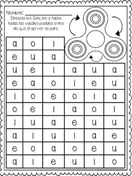 Fidget Spinner Activities in Spanish