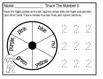 Fidget Spinner Activity - Trace The Numbers