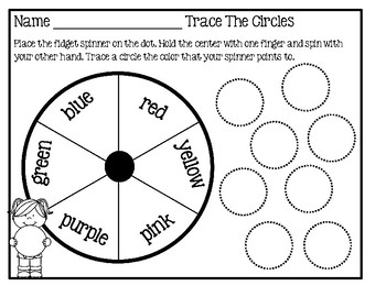 Fidget Spinner Activity - Trace The Shapes