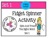 Fidget Spinner Activity - Trace The Sight Word Set 1