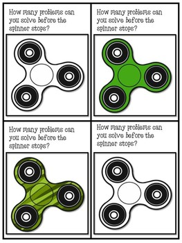 Fidget Spinner Addition Practice (Adding Within 20)