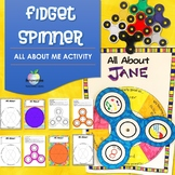 Fidget Spinner All About Me Editable Activity - Back to Sc