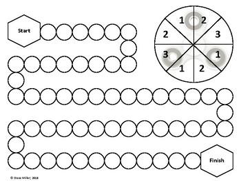 Fidget Spinner Board Game - Black & White