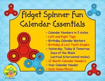 Fidget Spinner Calendar Essentials
