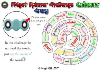 Fidget Spinner Challenge - Colours