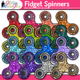 Fidget Spinner Clip Art {Rainbow Stress Reliever Toys for