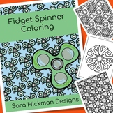 Adult Coloring Fidget Spinner Coloring Pages for Teens and