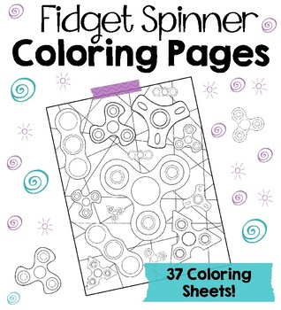 Fidget Spinner Coloring Pages By Art Is Basic Teachers Pay Teachers