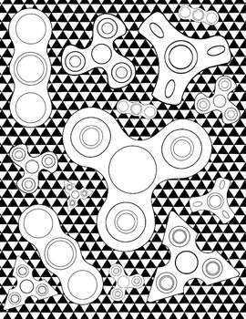 Fidget Spinner Coloring Pages By Art Is Basic Teachers