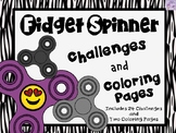Fidget Spinner Coloring Pages and Challenges