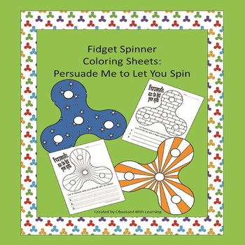 Fidget Spinner Coloring Sheets : Persuade Me to Let You Spin
