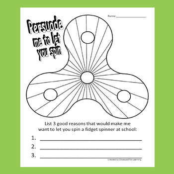 Fidget Spinner Coloring Sheets #1 : Persuade Me to Let You Spin