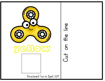 Fidget Spinner Colors Adapted Book