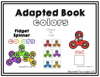 Colors Adapted Books Bundle for Preschool, Pre-K and Special Needs