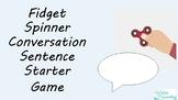 Fidget Spinner Conversation Sentence Starter Game