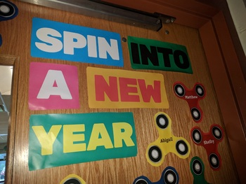 Fidget Spinner Door and Bulletin Board Design!