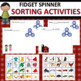 Fidget Spinner Early Learning Bundle: ABCs, Colors, Shapes, Numbers & Sorting
