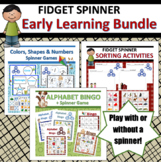 Fidget Spinner Early Learning Bundle: ABCs, Colors, Shapes