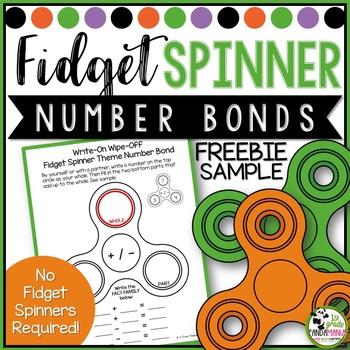 Fidget Spinner Theme Fact Family Number Bond Write-On, Wipe-Off Sheet FREE