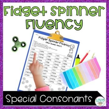 Fidget Spinner Fluency: Hard and Soft  C & G and Silent Consonants