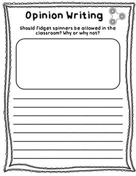 Fidget Spinner Fun K-2 Includes: Writing, Design, & Experiment!