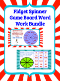 Word Work Fidget Spinner Game Board Bundle