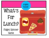 Fidget Spinner Game - What's For Lunch?