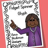 Fidget Spinner Glyph for Back to School