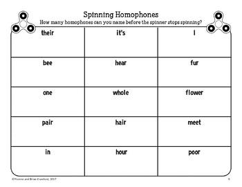 Fidget Spinner Grammar Speed Challenges