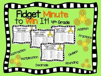 Fidget Spinner Math Activities Growing Bundle