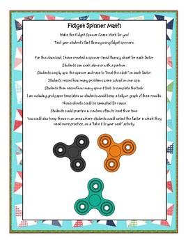 Fidget Spinner Math - Beat the Spinner + Graphing Ideas