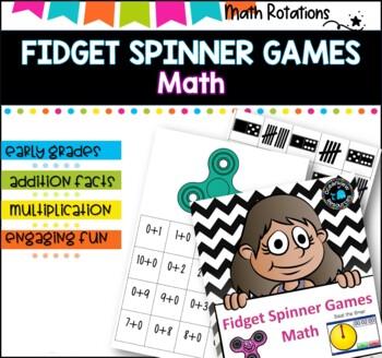 Timed Math Activities using fidget spinners- math rotations