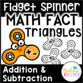 Fidget Spinner Math Fact Triangles: Addition & Subtraction Facts
