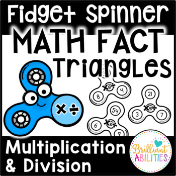Fidget Spinner Math Fact Triangles: Multiplication & Division Facts within 100