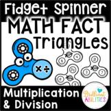 Fidget Spinner Math Fact Triangles: Multiplication & Divis