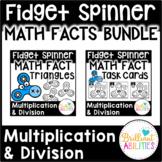 Fidget Spinner Math Facts BUNDLE: Triangles & Task Cards M