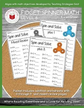 Fidget Spinner Math Facts 0-9