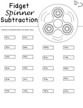 Fidget Spinner Math Facts