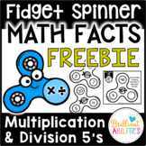 Fidget Spinner Math Facts FREEBIE SAMPLER Multiplication &