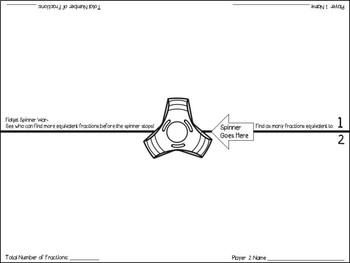 Fidget Spinner Math (Finding Equivalent Fractions)