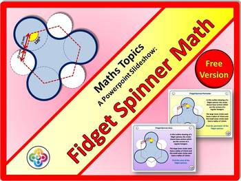 fidget spinner math free powerpoint show by brian s math topics tpt